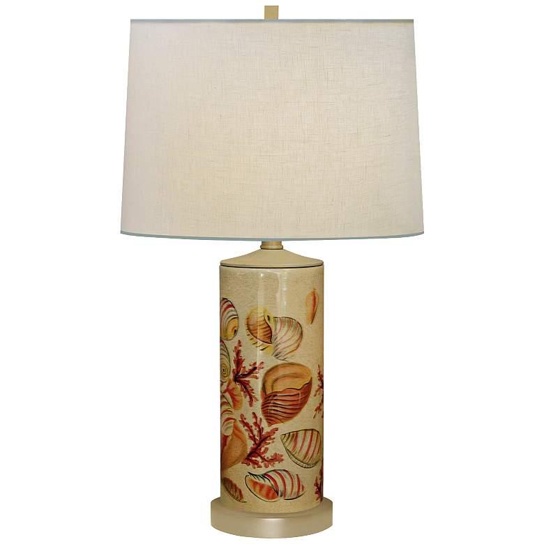 Seaside Column Hand-Painted Porcelain Table Lamp