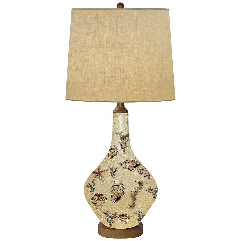 Morning Light Hand-Painted 3D Raised Porcelain Table Lamp