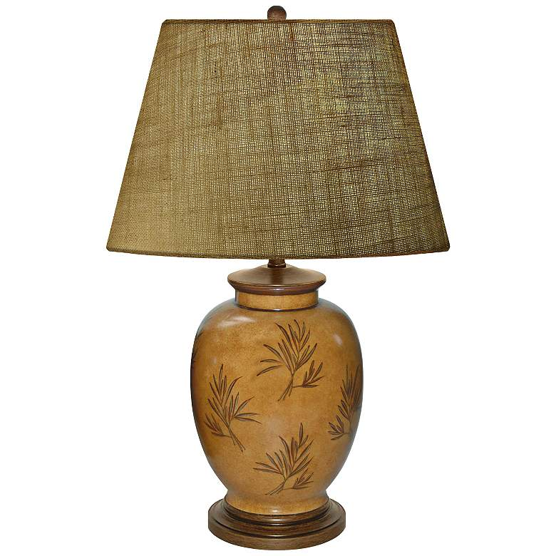 Amber Waves Of Grain Hand-Painted Porcelain Table Lamp