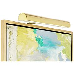 """Concept 18"""" Wide Polished Brass Cordless LED Picture Light"""