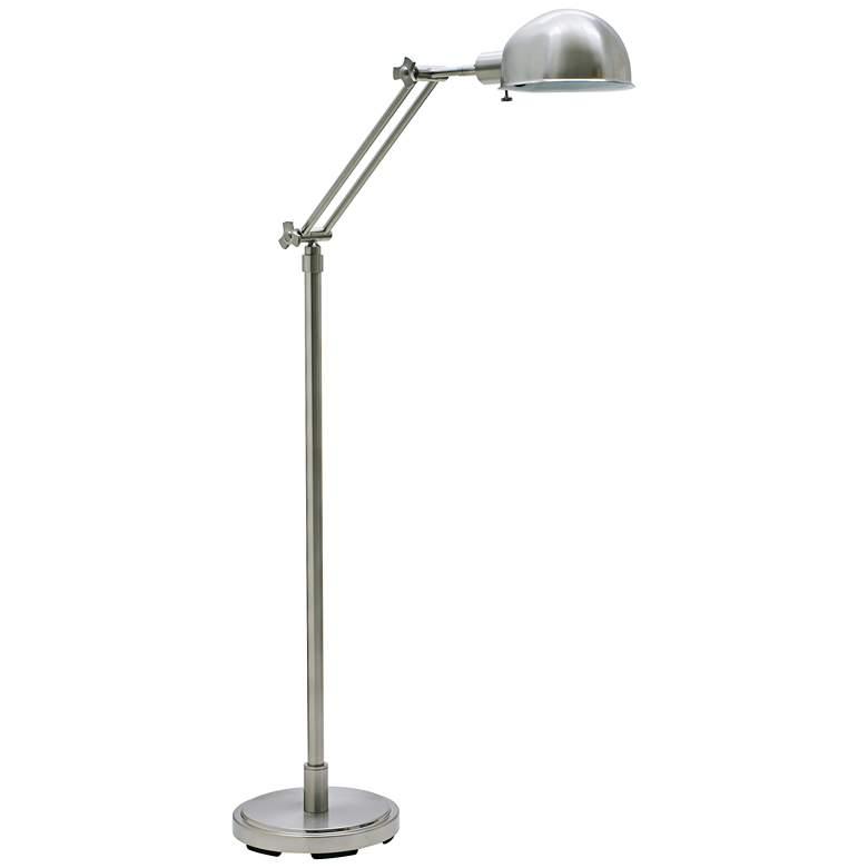 House of Troy Addison Adjustable Satin Nickel Floor Lamp