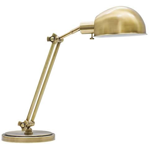 House of Troy Addison Adjustable Antique Brass Desk Lamp