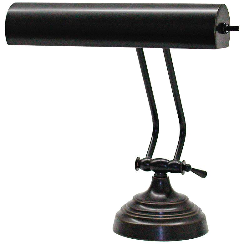 House of Troy Advent 2-Arm Oil-Rub Bronze Piano Desk Lamp