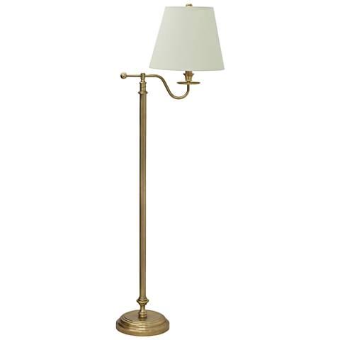 House of Troy Bennington Bridge-Arm Olde Brass Floor Lamp