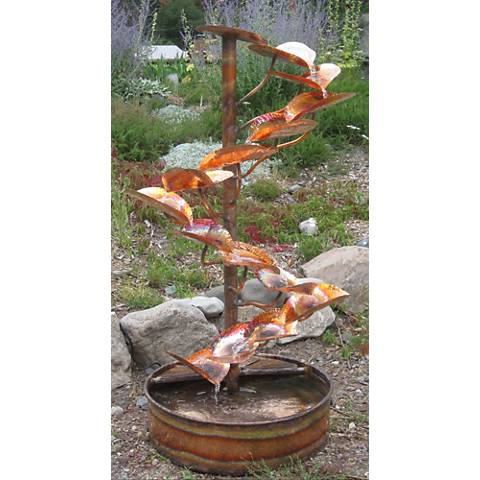 """The Tree of Life 60"""" High Indoor-Outdoor Copper Fountain"""