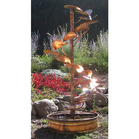 "The Tree of Life 72"" High Indoor-Outdoor Copper Fountain"