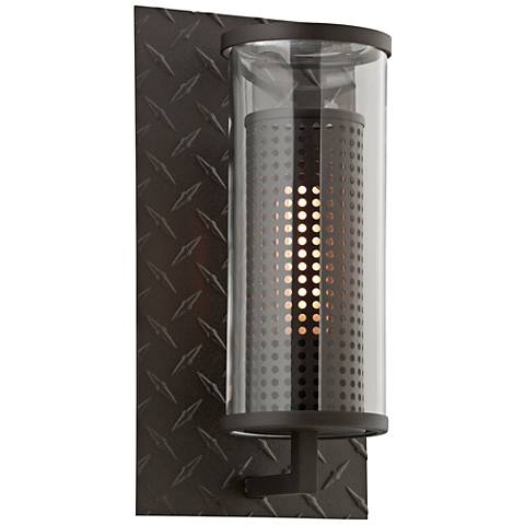 "Murdoch 13"" High Textured Bronze Outdoor Wall Light"