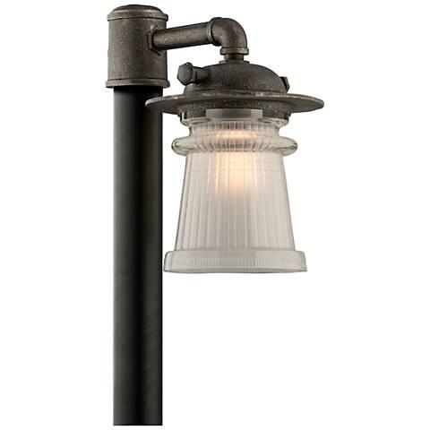 "Pearl Street 16 1/4""H Charred Zinc Outdoor Post Light"