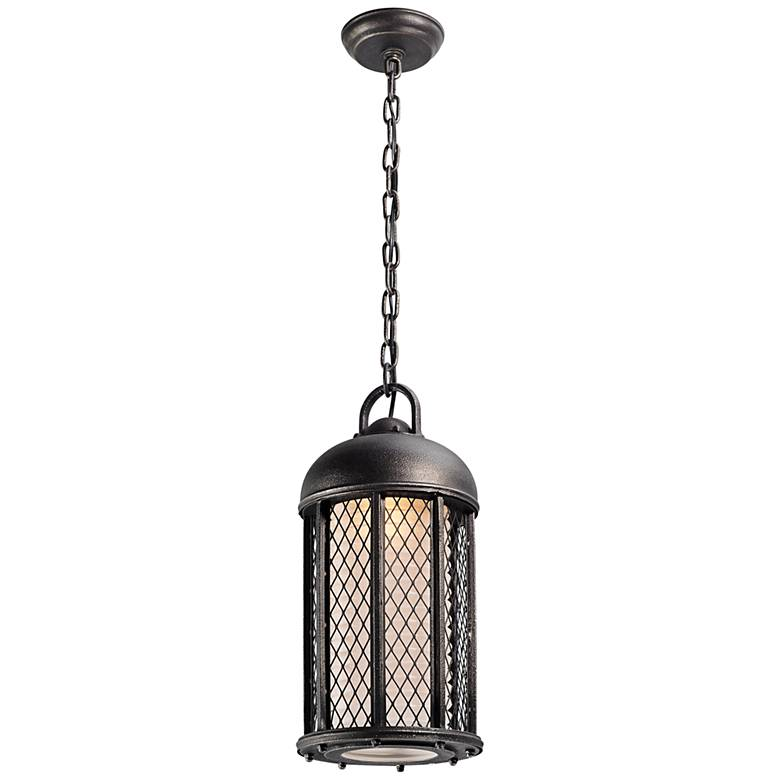 "Signal Hill 18 3/4""H Silver Outdoor LED Hanging Light"