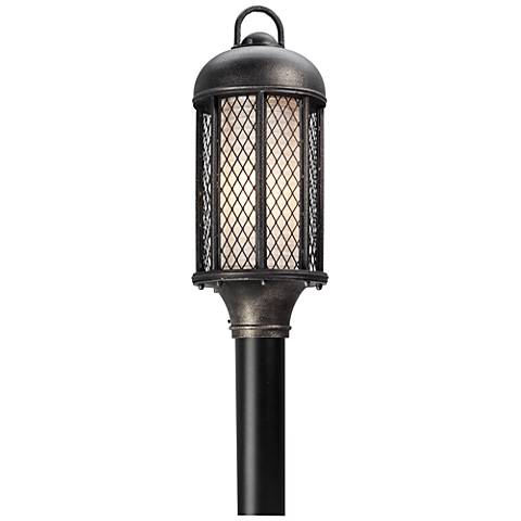 "Signal Hill 20 1/4""H Aged Silver Outdoor CFL Post Light"