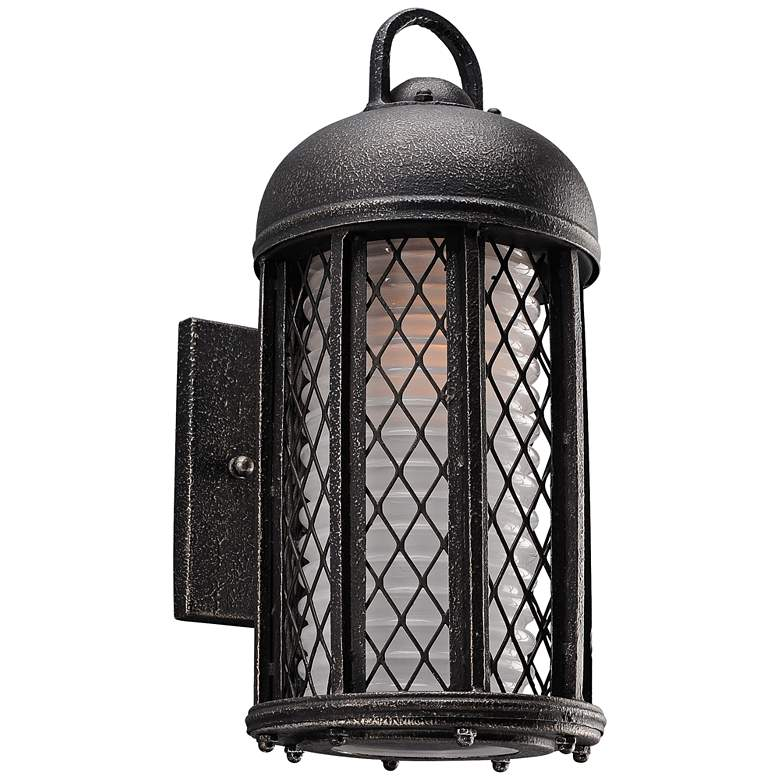 "Signal Hill 12 3/4"" High Aged Silver Outdoor Wall Light"