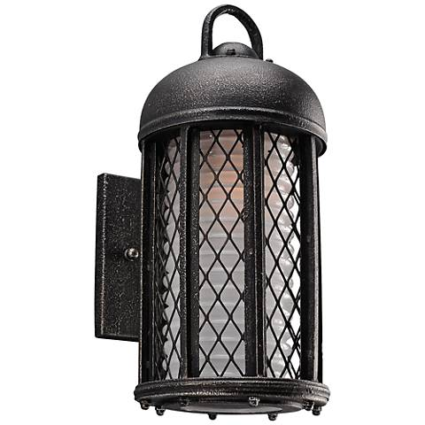 """Signal Hill 12 3/4""""H Aged Silver Outdoor CFL Wall Light"""