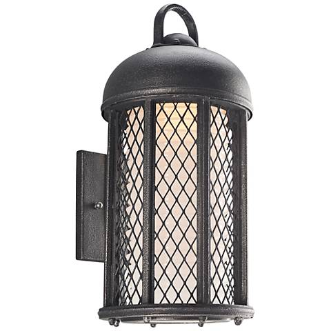 "Signal Hill 17 1/2""H Aged Silver Outdoor CFL Wall Light"