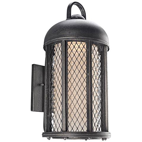 """Signal Hill 21 1/4""""H Aged Silver Outdoor LED Wall Light"""