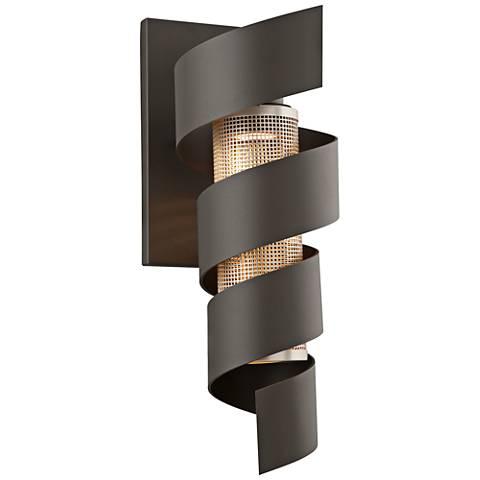 """Vortex 22"""" High Bronze Outdoor LED Wall Light"""