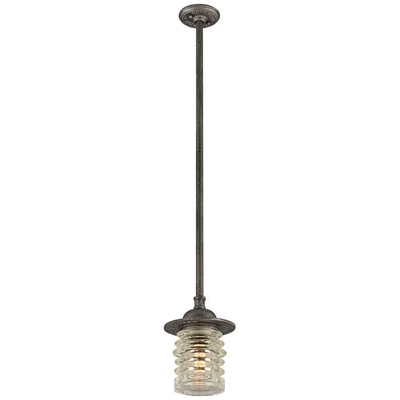"Watson 10 1/2"" High Charred Zinc Outdoor Hanging Light"