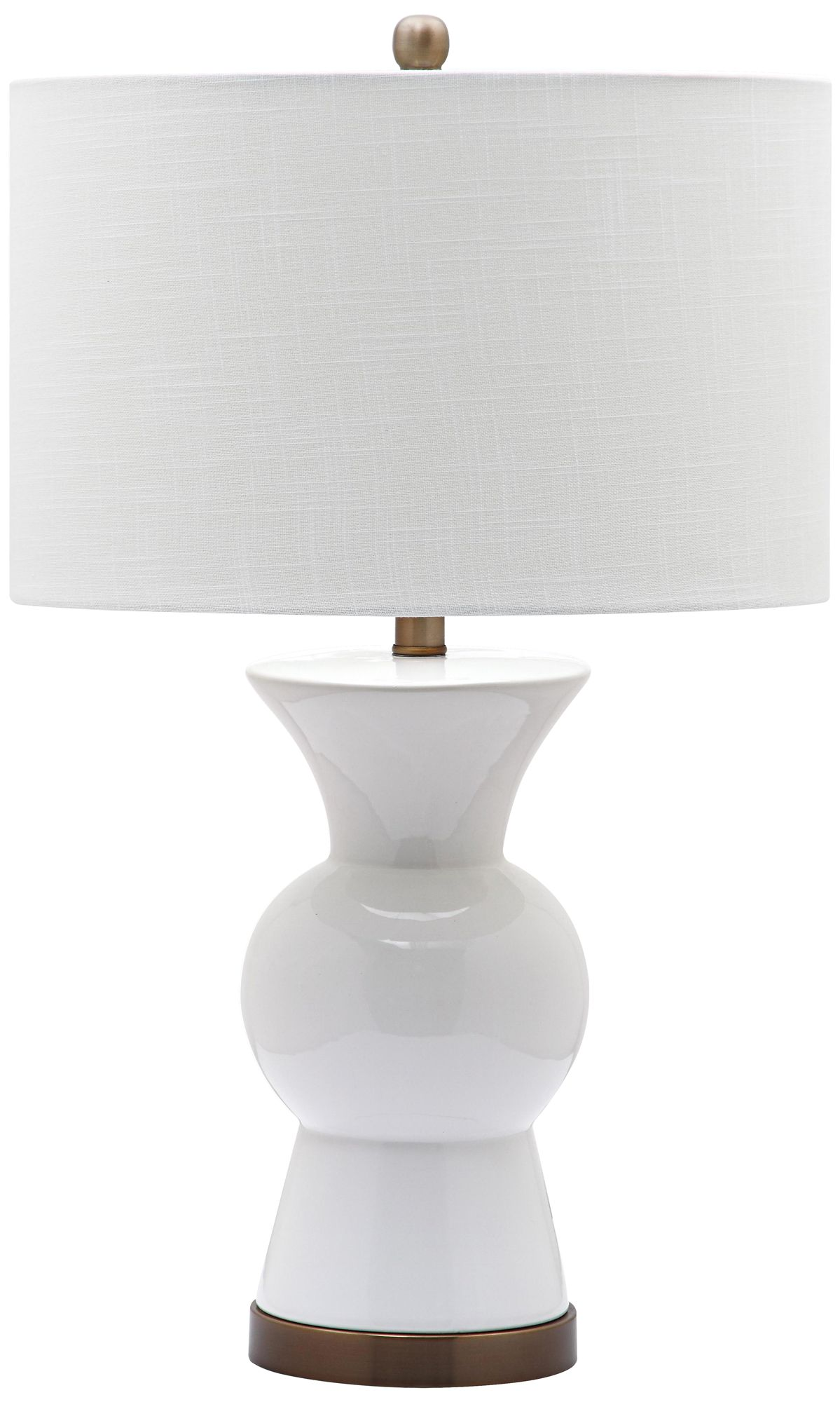 Berkeley Bright White Ceramic Table Lamp