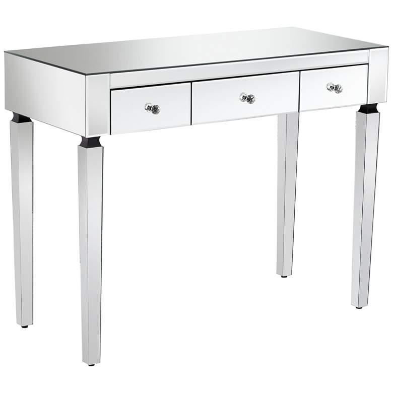 "Thea 39 1/2"" Wide 3-Drawer Mirrored Small Desk"