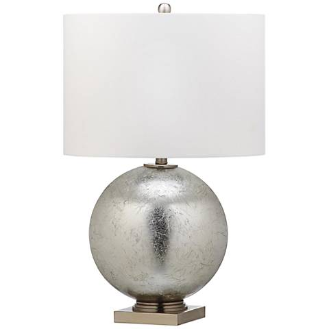 Odyssey Silver Leaf Round Glass Ball Table Lamp