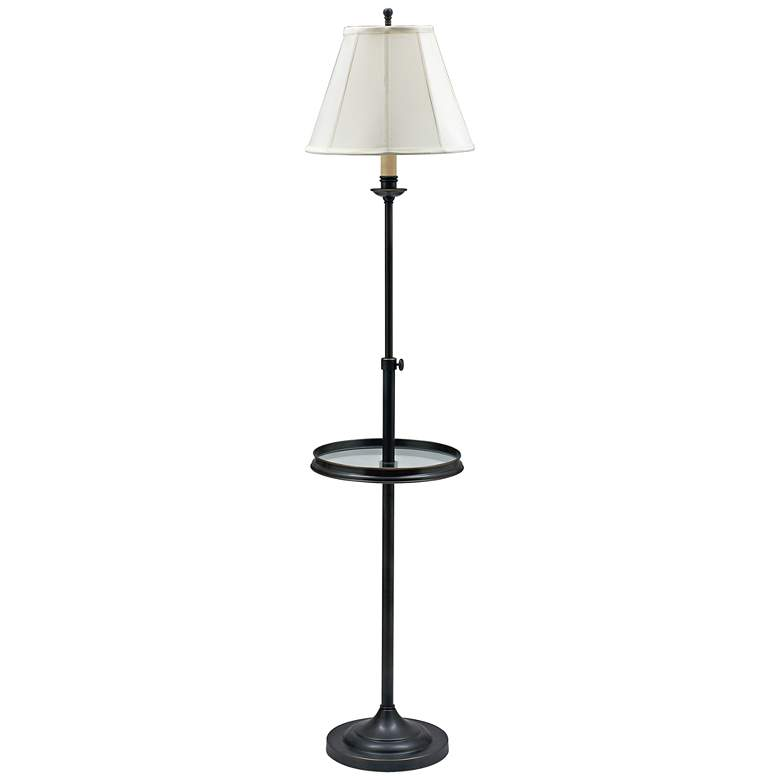House of Troy Club Oil Rubbed Bronze Floor Lamp with Tray