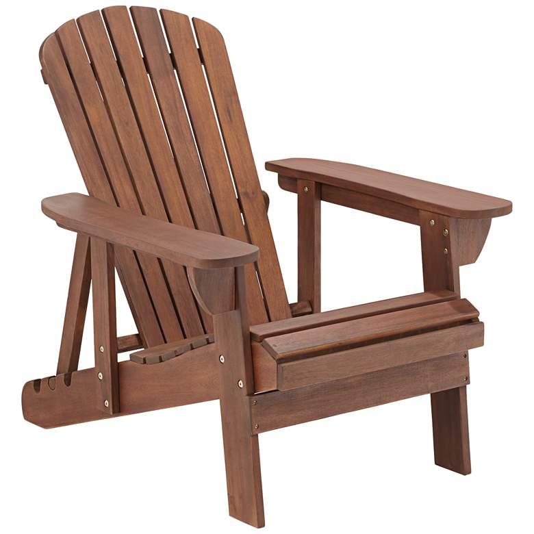 Fletcher Reclining Adirondack Dark Natural Chair
