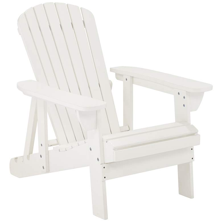 Fletcher Adjustable Back White Adirondack Chair