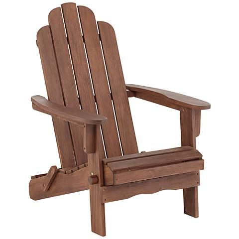 Chandler Dark Natural Folding Adirondack Chair