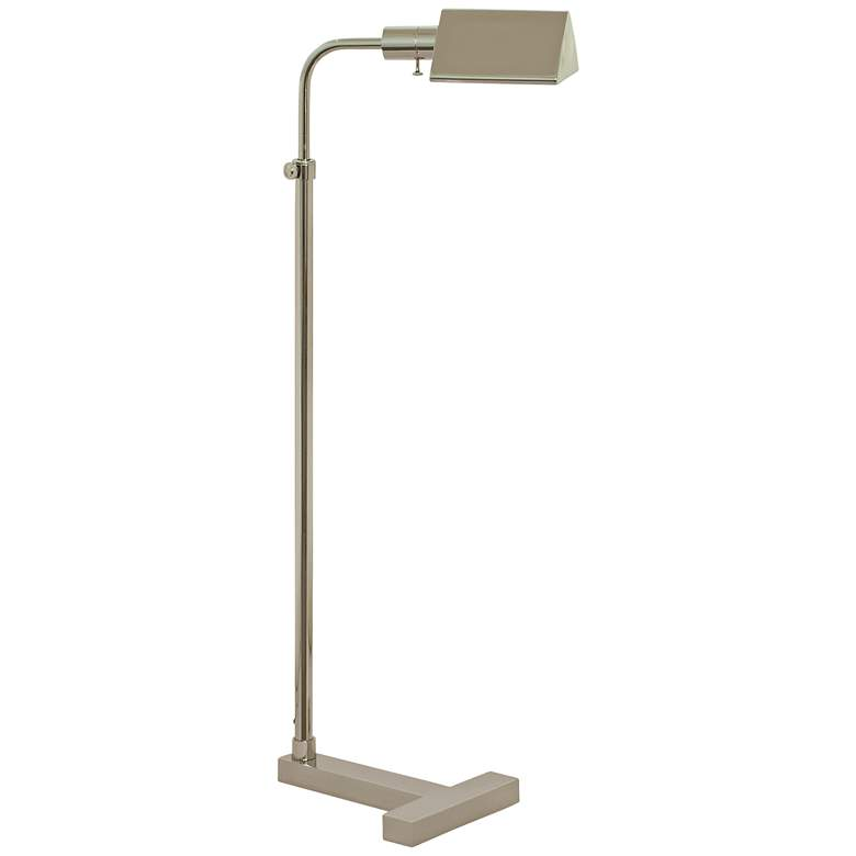 Fairfax Adjustable Polished Nickel Pharmacy Floor Lamp