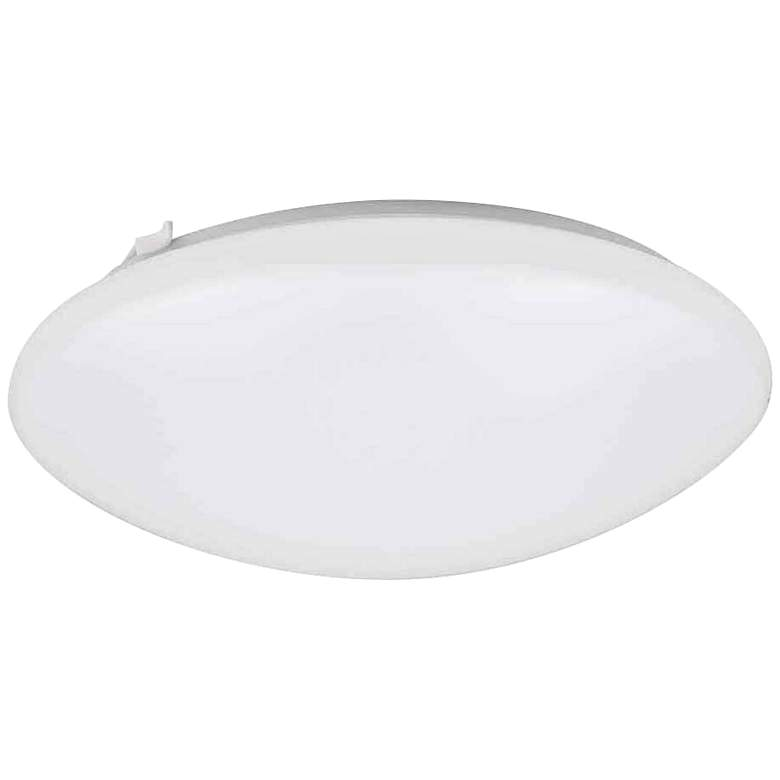"""Deft 16"""" Wide Round White LED Ceiling Light"""