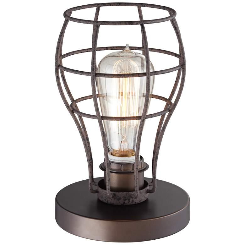 "Oldham Industrial Uplight 9 1/2""H Edison Bulb Table Lamp"