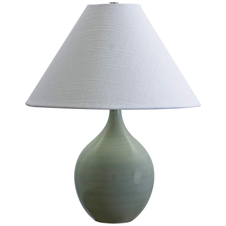 """Scatchard Stoneware 19"""" High Celadon Green Accent Table Lamp"""