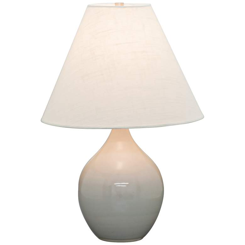 """Scatchard Stoneware 19"""" High Glossy Gray Accent Table Lamp"""