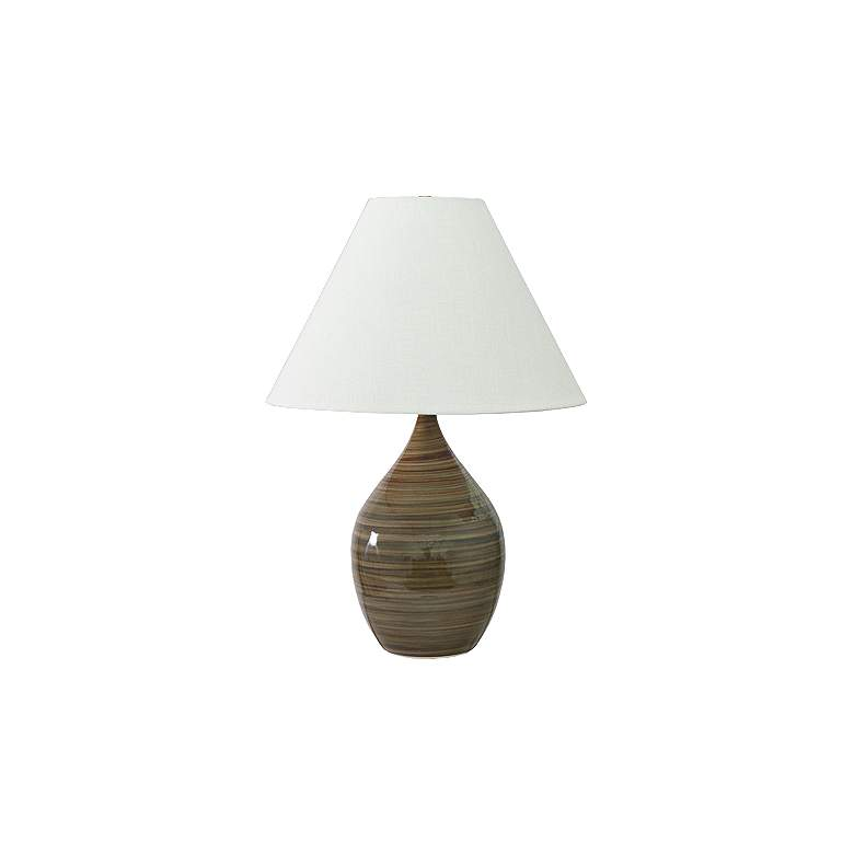 "Scatchard Stoneware 28"" High Tiger's Eye Table Lamp"