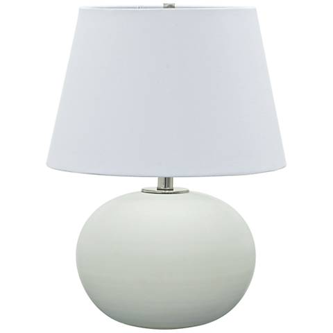 "Scatchard Stoneware 22"" High Round Matte White Table Lamp"