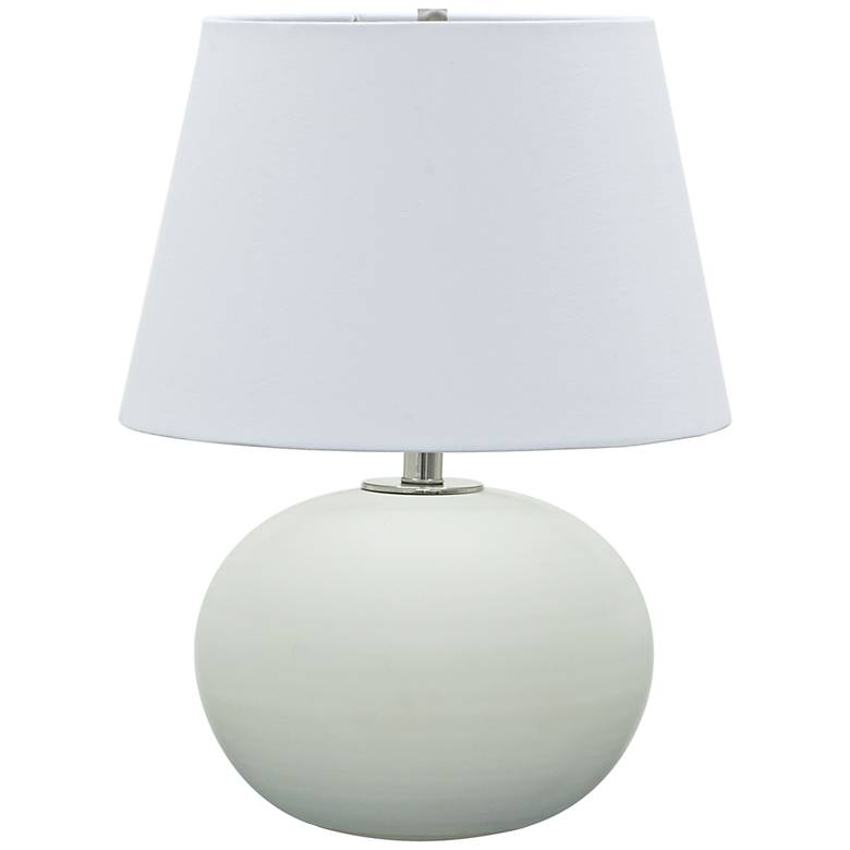 "Scatchard Stoneware 22"" High Round Matte White Table Lamp"