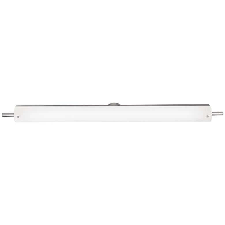 "Vail 42"" Wide Brushed Steel Opal Glass LED Bath Light"