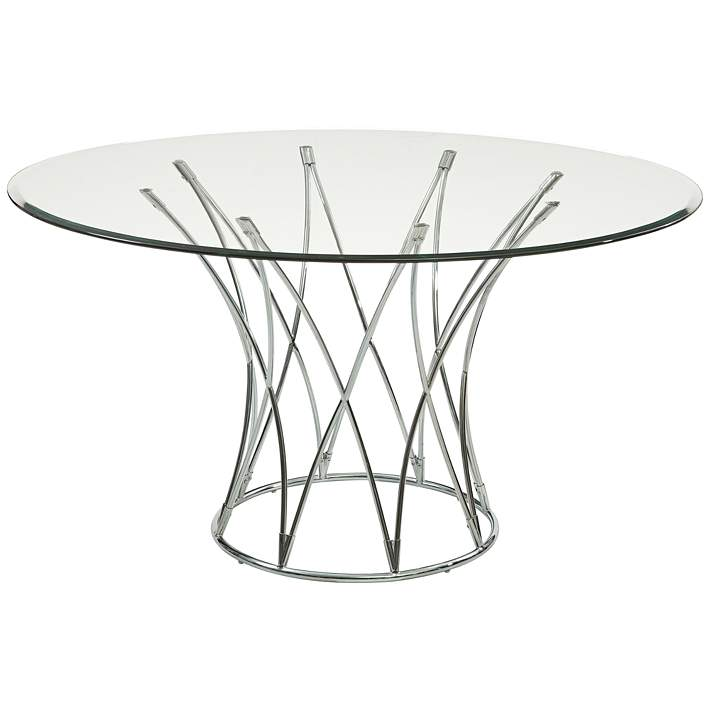 Gl Round Modern Dining Table