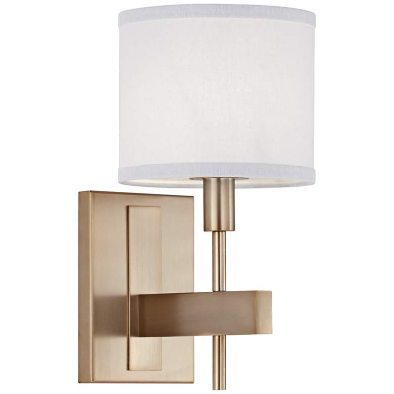 """Orson 13 1/2"""" High Burnished Brass Wall Sconce"""