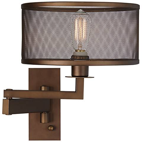 Svende Oil Rubbed Bronze Plug-In Swing Arm Wall Lamp