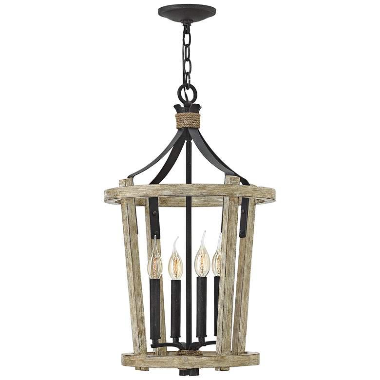 """Fredrick Ramond Sherwood 15""""W Cottage Wood Pendant Light"""