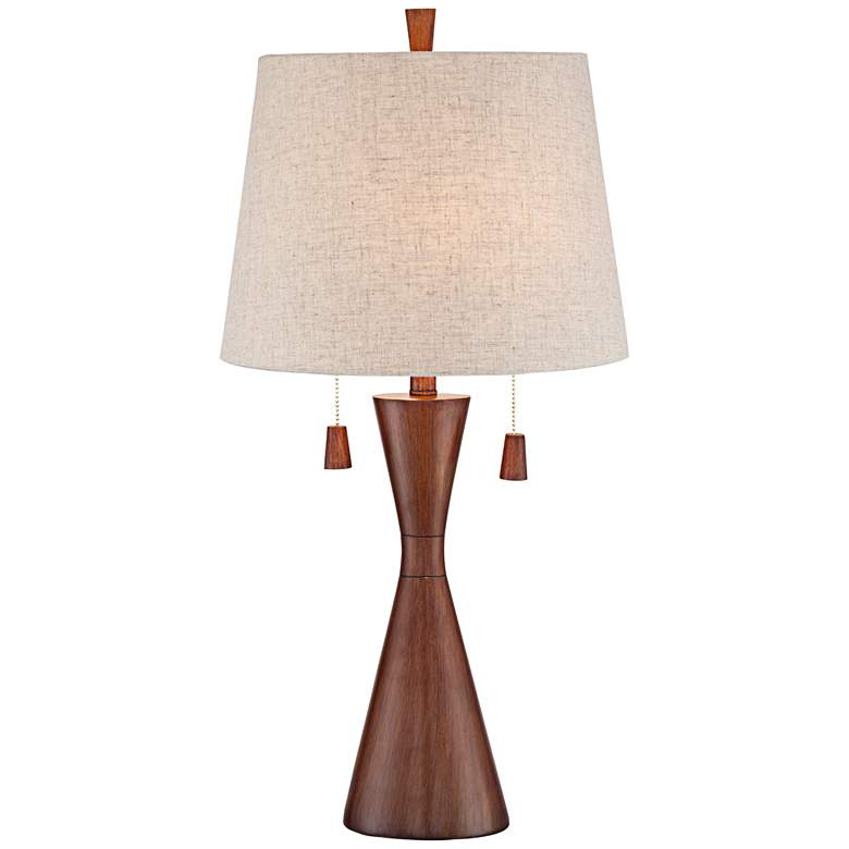 Omar Warm Brown Hourglass Table Lamp