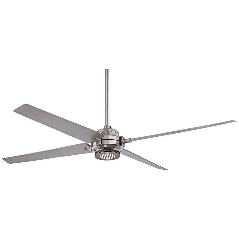 60 Quot Minka Aire Spectre Silver Nickel Led Ceiling Fan