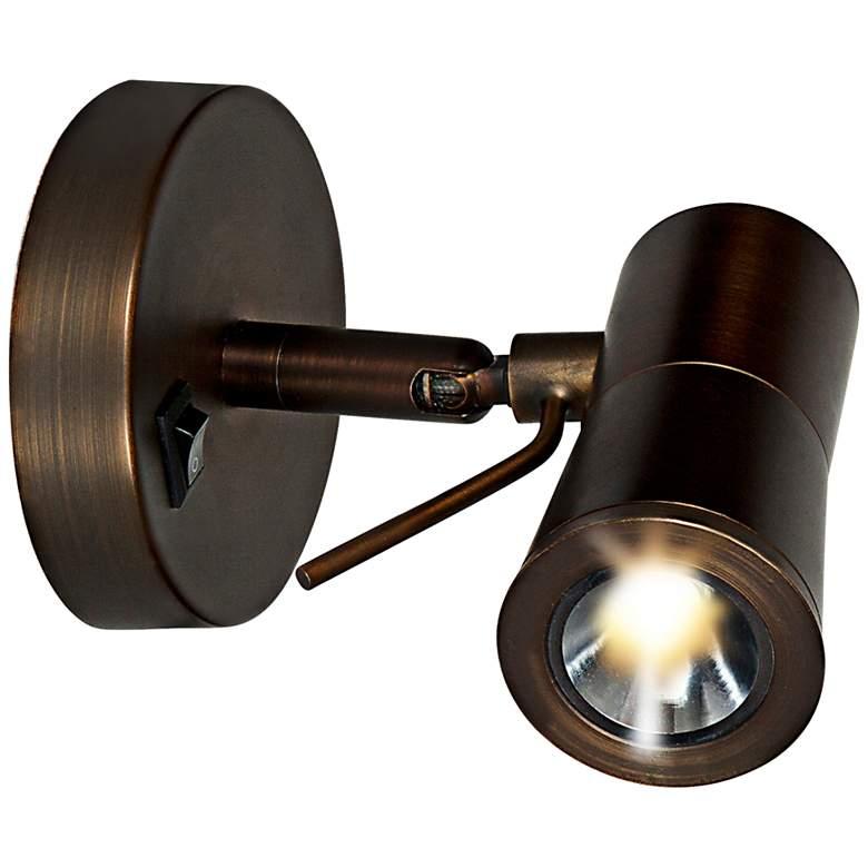 "Cyprus II Bronze Adjustable 4 3/4"" High LED Plug-In Sconce"