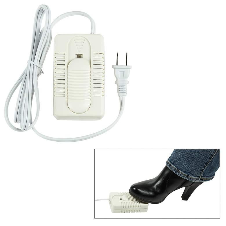 300 Watt White Foot Dimmer Switch