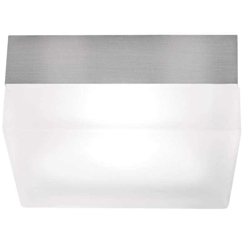 "Tech Lighting TL 360 Satin Nickel 9"" Wide Square Ceiling Light"
