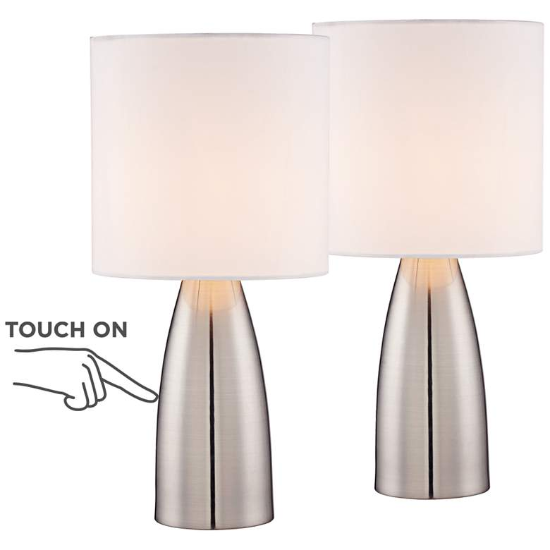 """Set of 2 Aron 14 1/2"""" High Accent On-Off TouchTable Lamps"""