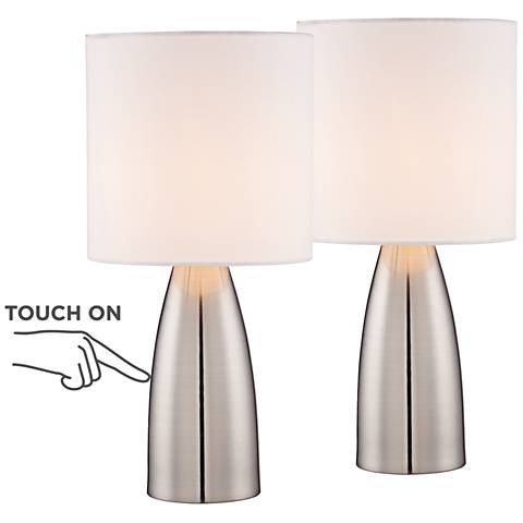 "Set of 2 Aron 14 1/2"" High Accent On-Off TouchTable Lamps"