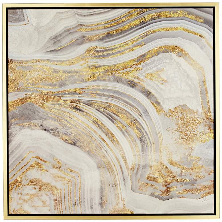 """Golden Sands of Time I 43"""" Square Framed Wall Art"""