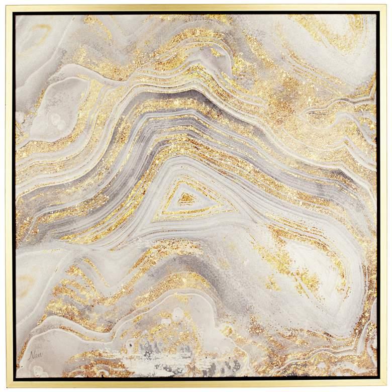 "Golden Sands of Time II 43"" Square Framed Wall Art"