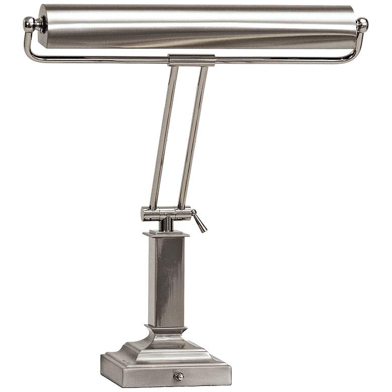 """House of Troy Square 18""""H Polished Nickel Piano Desk Lamp"""